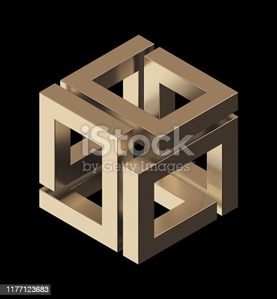 175960311 istock photo Abstract Sculpture On Black Background 1177123683