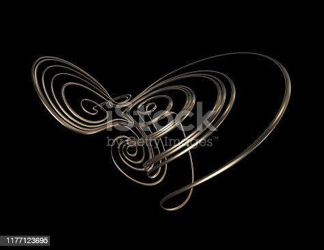 175960311 istock photo Abstract Sculpture On Black Background 1177123695
