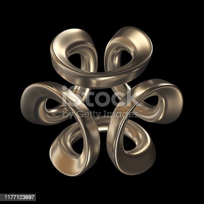 175960311 istock photo Abstract Sculpture On Black Background 1177123697