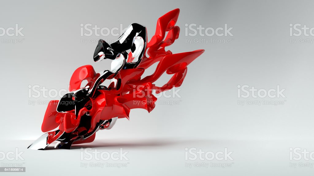 abstract sculpture stock photo