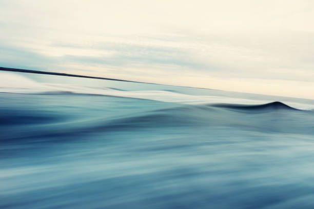 abstract sea and sky background - d'atmosfera foto e immagini stock