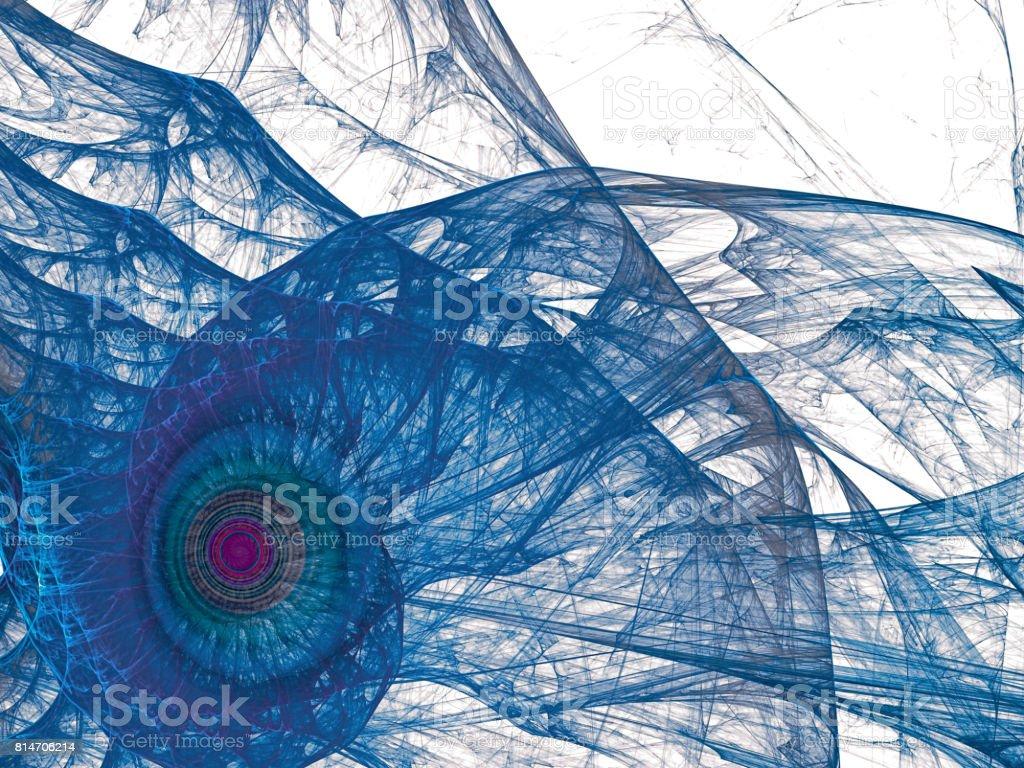 Abstract sea shell digitally generated image stock photo
