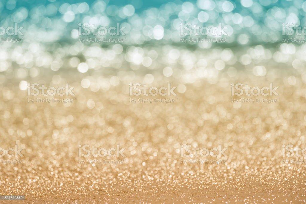 Abstract seascape bokeh. stock photo