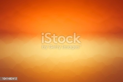 Abstract Smooth Polygonal Mosaic Orange and Yellow Background Vignette - seascape wallpaper