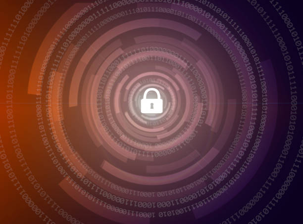 abstract security digital technology background stock photo