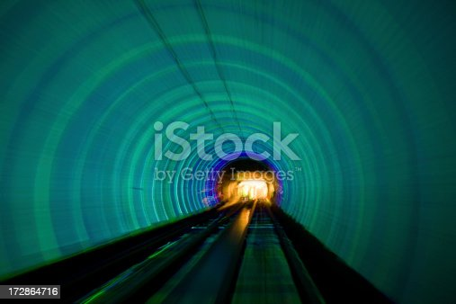 Picture taken from a vehicle crossing the underwater tunnel to Pudong district. China.See a nice variety of  Chinese images in this lightbox: