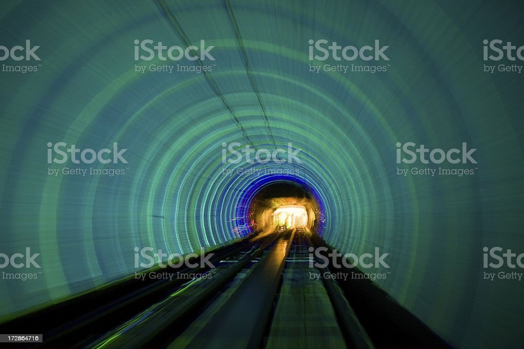 Abstract - Shanghai Tunnel stock photo