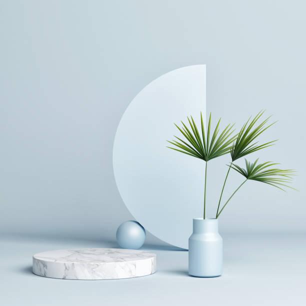 Abstrakte Form, Geometrie-Form, Podiumhintergrund – Foto