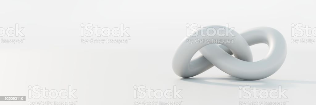 Abstract shape isolated on an empty surface stock photo