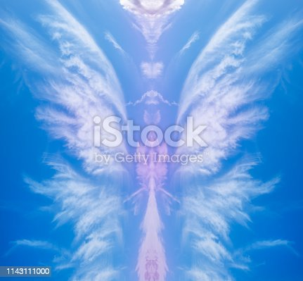 603271648istockphoto Abstract shape of an angel 1143111000