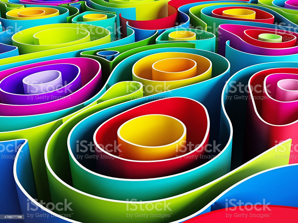 Abstract shape stock photo