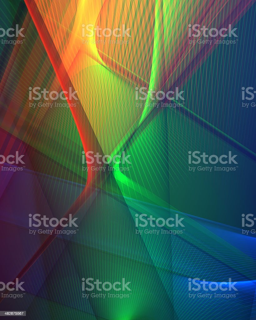 Abstract sharp edges in primary colors royalty-free stock photo
