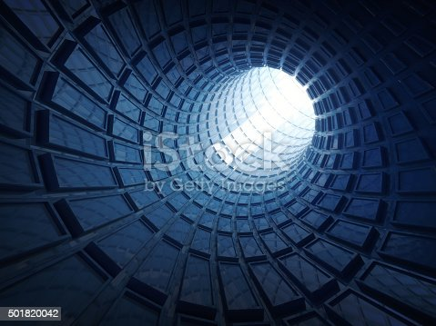 859156600 istock photo Abstract shining blue digital tunnel background 501820042