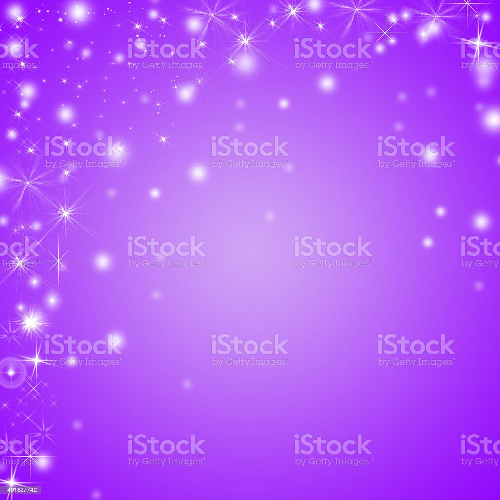 Abstract shiny purple and white winter holidays background with copyspace stock photo