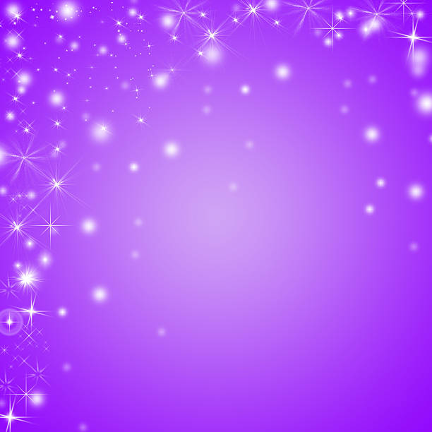 abstract shiny purple and white winter holidays background with copyspace - star pattern bildbanksfoton och bilder