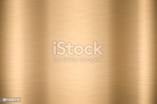 Abstract Shiny smooth foil metal Gold color background Bright vintage Brass plate chrome element texture concept simple bronze leaf panel hard backdrop design, light polished steel banner wallpaper.