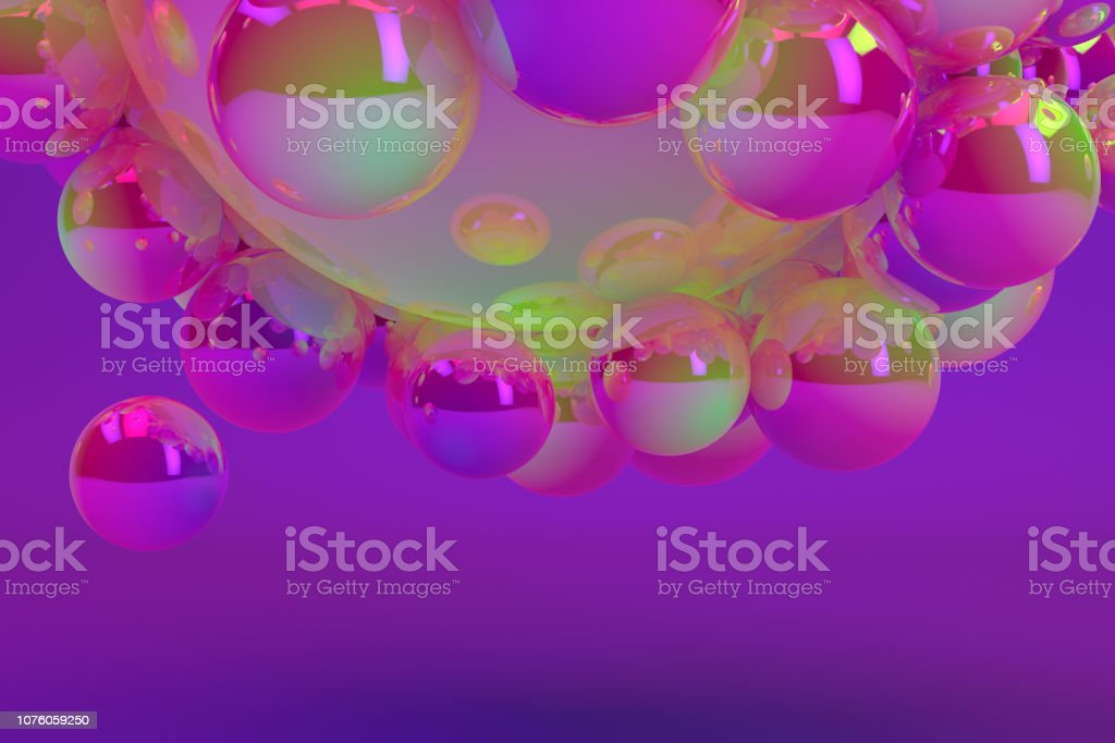 Abstract Shiny Sphere Background stock photo