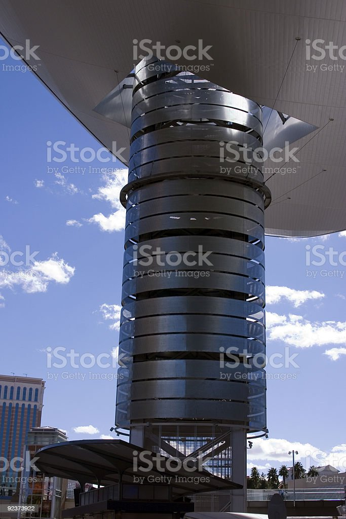 Abstract Shoping Mall Building Roof in Las Vegas Strip royalty-free stock photo