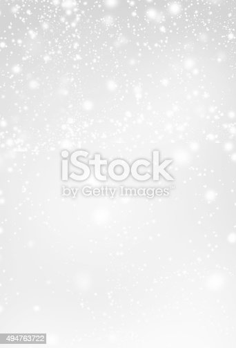 istock Abstract  Silver Christmas Background with white  lights. Festive 494763722