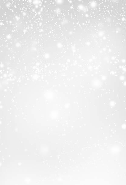 abstrakte silber weihnachten hintergrund mit weißen leuchten. tm - es schneit text stock-fotos und bilder