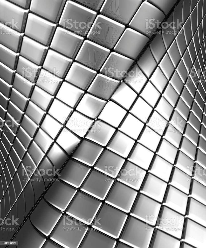 Abstract silver steel background with reflection royalty-free stock photo