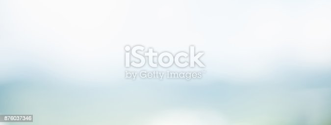 istock Abstract simple clean blur white gray and light blue banner background 876037346