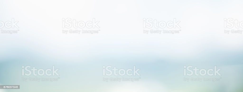 Abstract simple clean blur white gray and light blue banner background stock photo