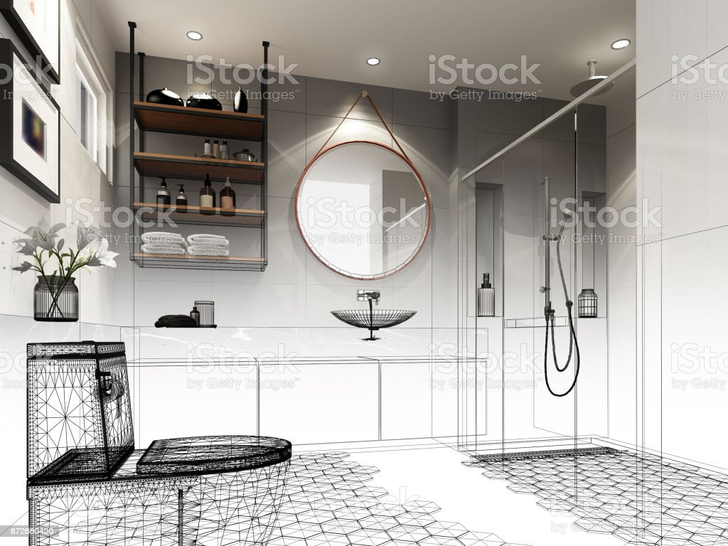 80+ Bathroom 3d Sketch - Bathroom Interior Design Sketches ...