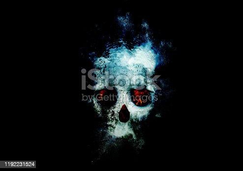 Abstract skull mark