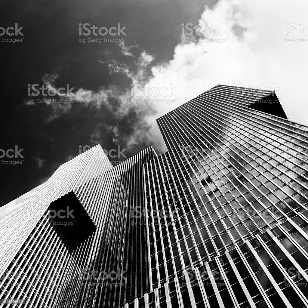 Abstract skyscraper segment stock photo