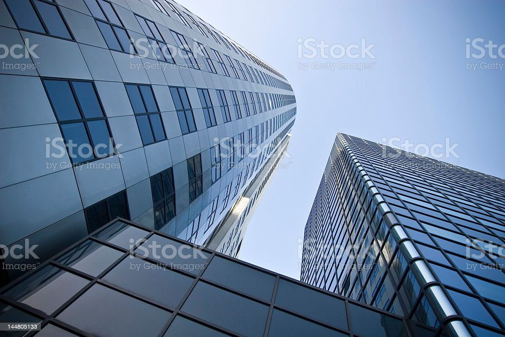 Abstract skyscrapers, architectural photography royalty-free stock photo