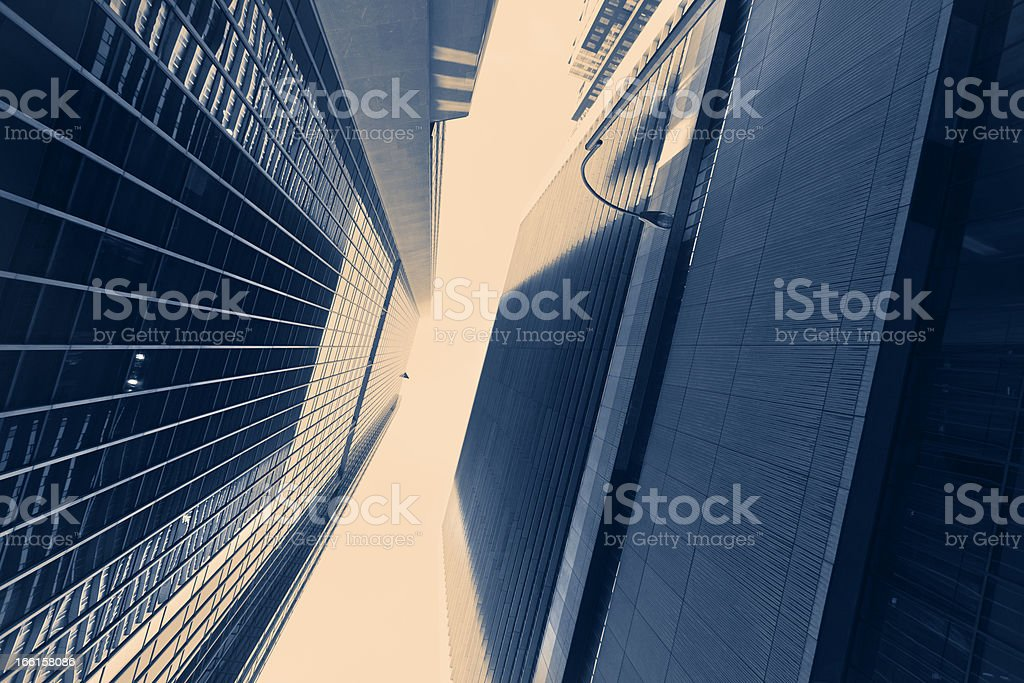 Abstract Skyscrapers Vintage royalty-free stock photo
