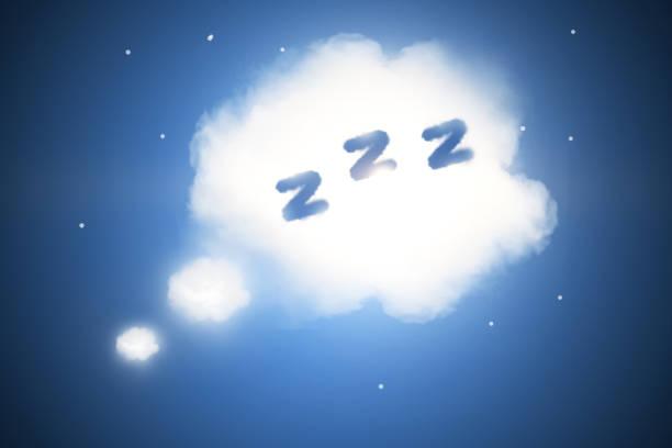 Abstract sleep cloud background stock photo