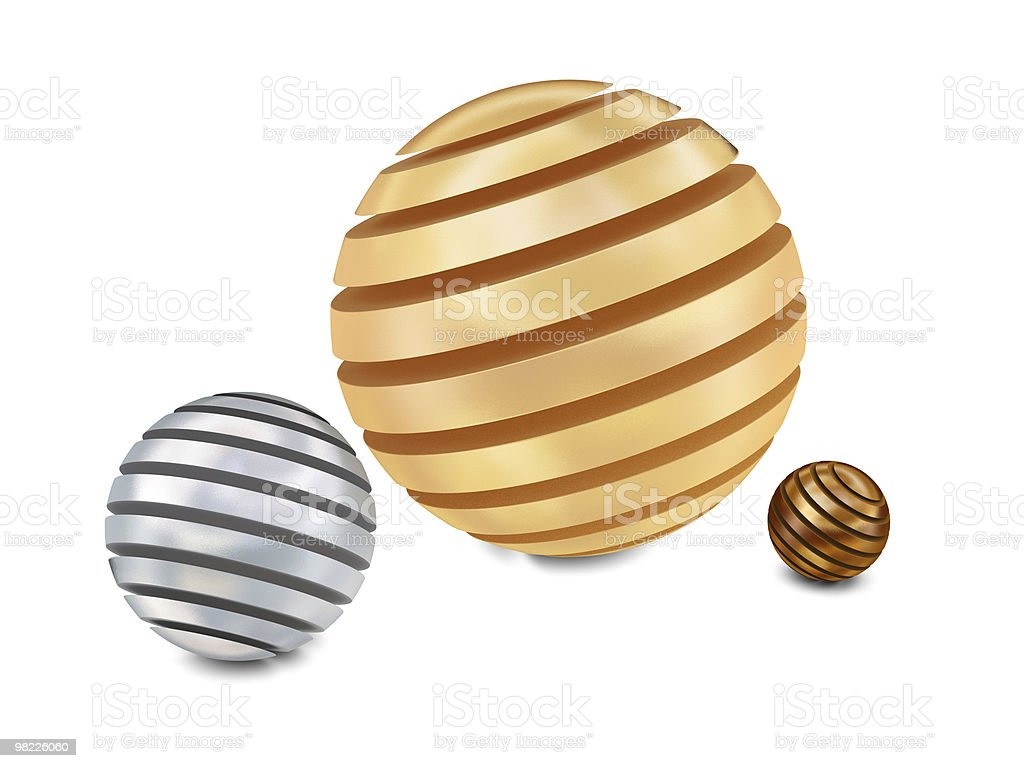Abstract sliced balls royalty-free stock photo