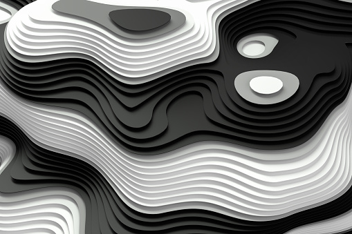 3d rendering of Abstract Sliced, Layered Background, Topography Concept.
