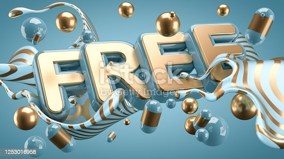 511983702 istock photo Abstract slogan background. 3d illustration, 3d rendering. 1253016958