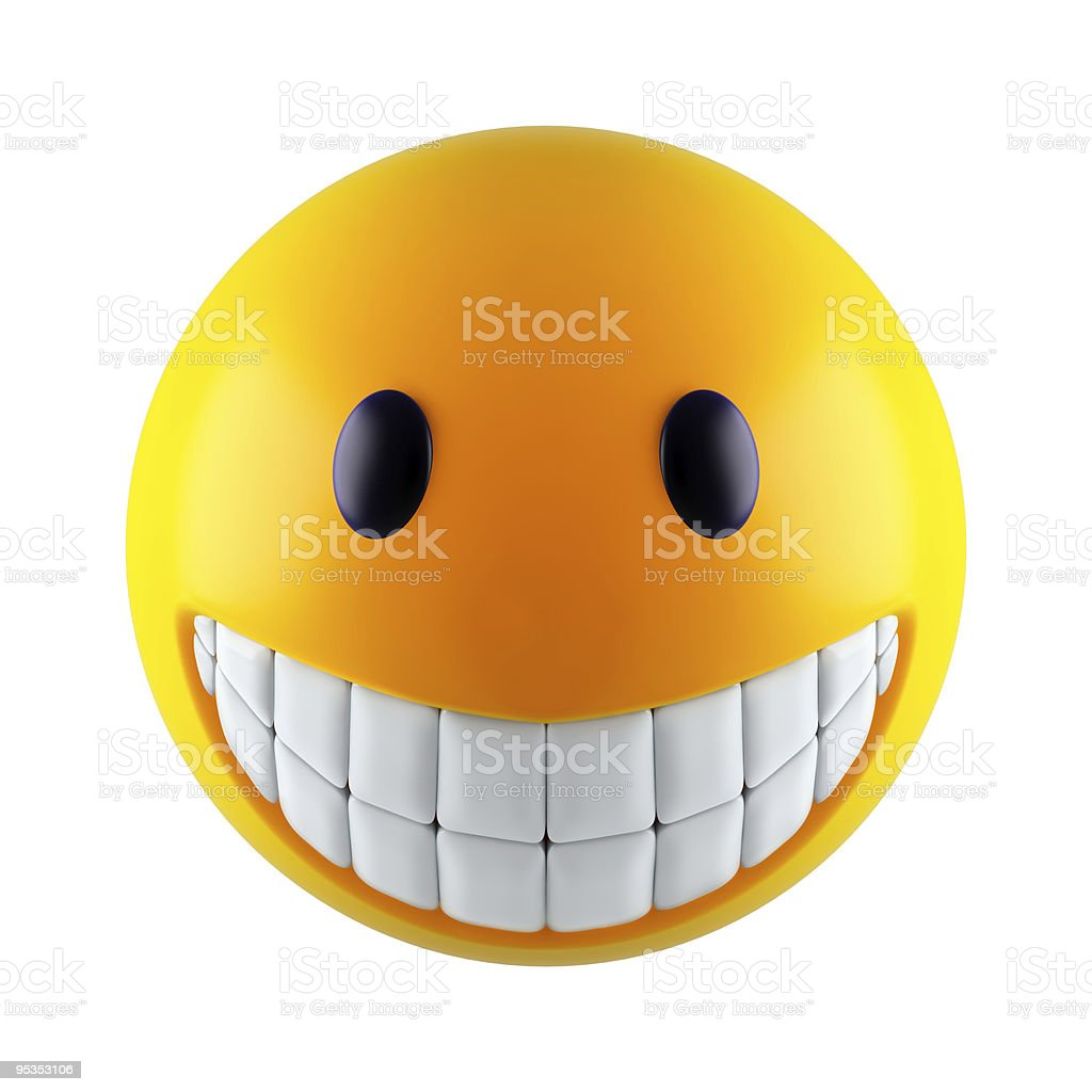 Abstract smile sphere stock photo