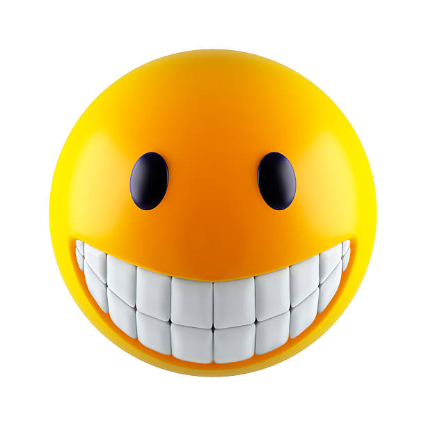 abstract smile sphere - smiley face stock photos and pictures