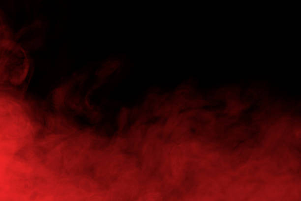 abstract smoke and fog background - 紅色 個照片及圖片檔