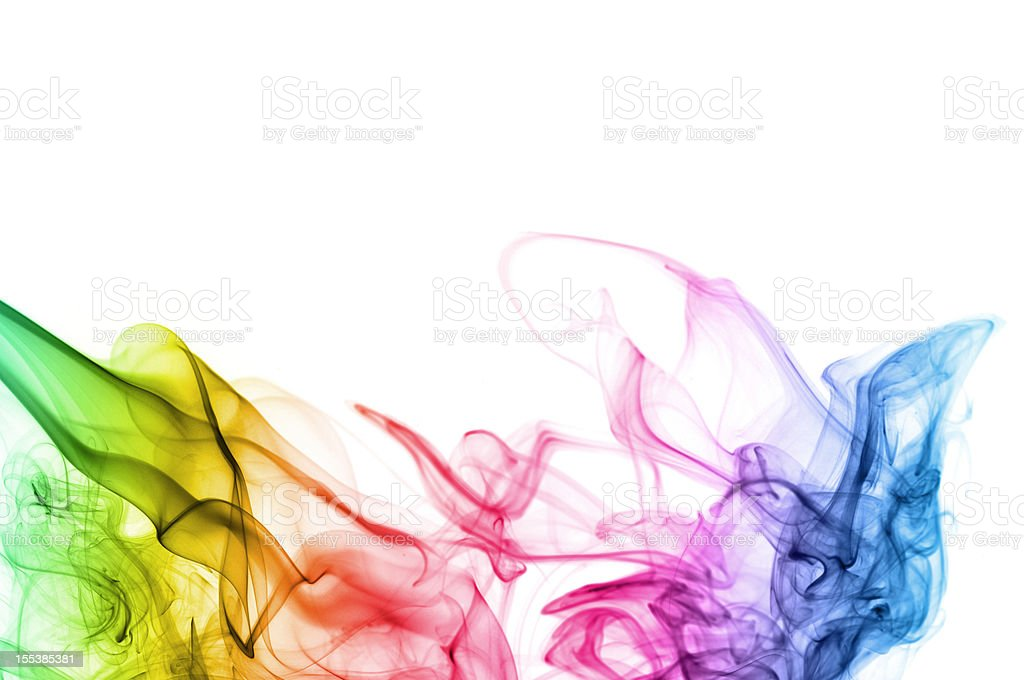 abstract smoke background in spectrum colors stock photo