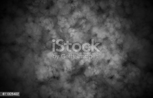 istock Abstract smoke hallaween horror for texture and background. 611325402
