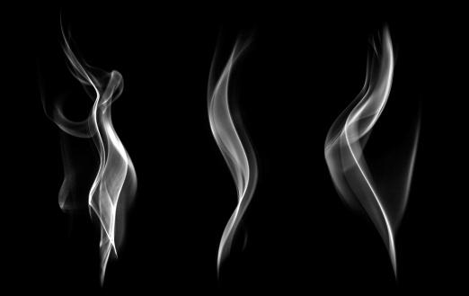 istock Abstract smoke isolated on black background. 504057453