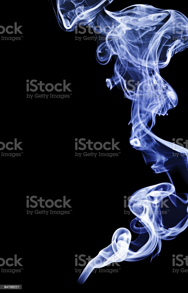 abstract smoke isolated on black royalty-free stock photo