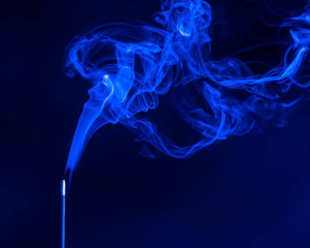 Abstract Smoke on black Background, colour stock photo