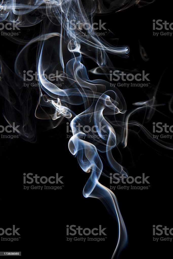 Abstract smoke on black background royalty-free stock photo