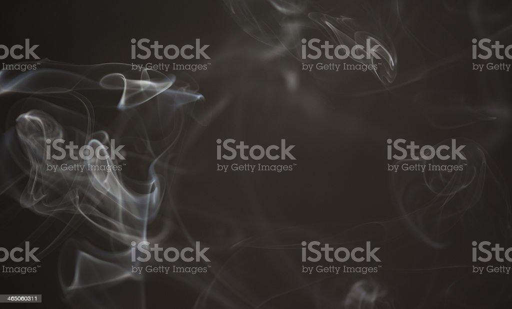 Abstract smoke on black background stock photo