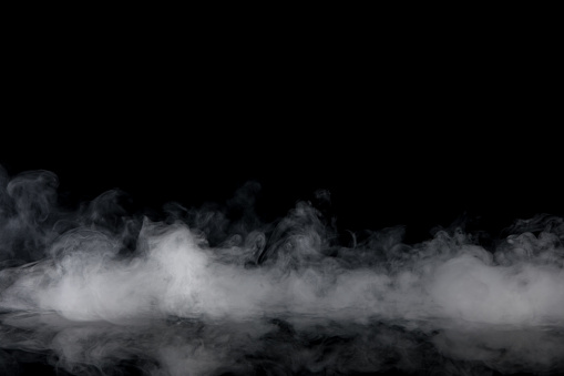 Abstract Smoke On Black Background Stock Photo - Download Image Now