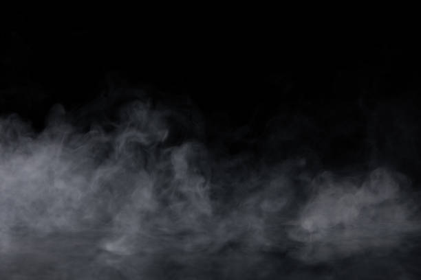 Abstract Smoke on black Background stock photo