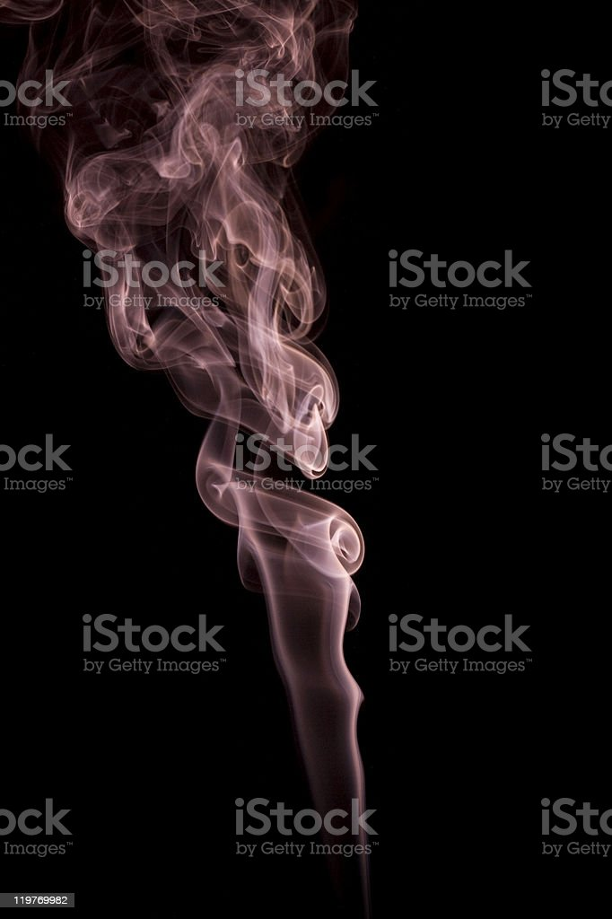Abstract Smoke on Black royalty-free stock photo