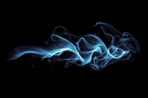 Abstract Smoke Photography of incense stick smoke. smoke physical structure stock pictures, royalty-free photos & images